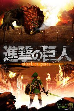 Figma Link, Zelda and Attack on Titan Crossover!  #Zelda #theLegendofZelda #FigmaLink #AttackonTitan #Ganon #tLoZ #nintendo