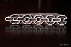 Hand Carved Indian Wood Block Stamp Chain by charancreations, $15.00