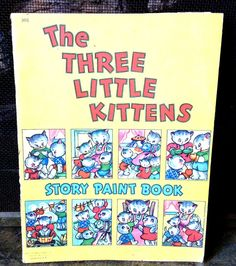 Vintage Antique Estate The Three Little Kittens by MADVintology