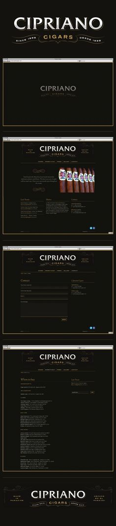 Cipriano Cigars by mononegro , via Behance