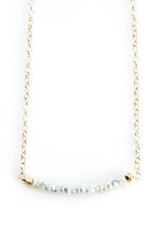 Coated Light Blue Sapphire necklace with gold by joydravecky #pinittowinit #jdjazure #larimer