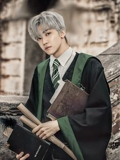 Taeyong, Slytherin, Hogwarts, Korean Girl Photo, Mood And Tone, Nct Dream Jaemin, Pop Collection, Lucas Nct, Aesthetic Words