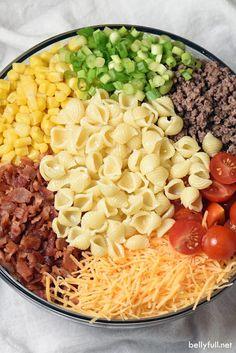 Easy Cowboy Pasta Salad - Best Recipe | Favours Food
