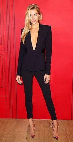 All black blazer outfit