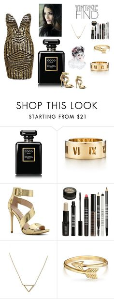 """All Gold"" by pink-xoxo1516 ❤ liked on Polyvore featuring Chanel, Tiffany & Co., ALDO, Lord & Berry, Banana Republic and Bling Jewelry"