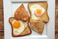 Egg In a Heart Toast