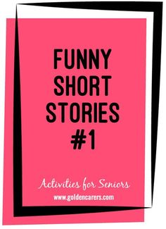 Here are two funny short stories to share: The Roommate & The Miser Short Funny Stories, Very Short Stories, Speech Language Pathology, Speech And Language, Trivia For Seniors, Senior Citizen Activities, Dementia Activities, Elderly Activities, Physical Education Games