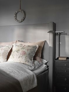 Villa Slemdal — Corniche Interior Design  Lum'art lamp Nemo collection Brushed nickel finish French Countryside, Villa, Indoor, Throw Pillows, Interior Design, Furniture, Bedrooms, Home Decor, Interior