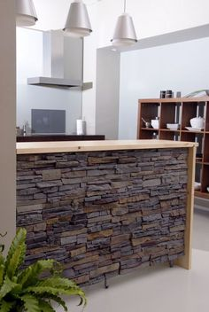 Exposed brick & stone walls have been an architectural feature for generations. A showcase of ways to feature exposed brick & stone inside your home. Stone Interior, Best Interior, Interior Design Kitchen, Kitchen Decor, Kitchen Walls, Decorating Kitchen, Kitchen Living, Living Room, Küchen Design