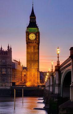 Sunset Thames River, London