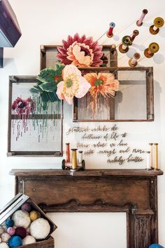 I want to create this. Fall Installation - Magnolia Market
