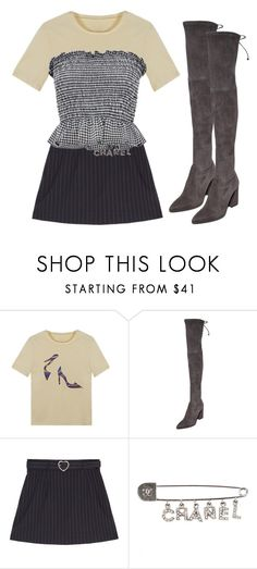 """""""OGE WOMENSWEAR"""" by aliensforsale ❤ liked on Polyvore featuring Stuart Weitzman, Chanel and clashingprints"""