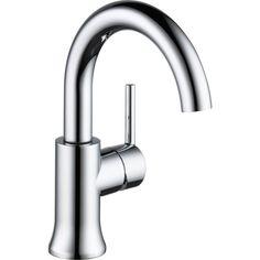Delta Faucet 559HA-DST Trinsic Polished Chrome  One Handle Bathroom Faucets  eFaucets.com