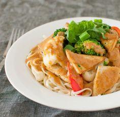 Tofu with Thai Peanut Sauce Recipe