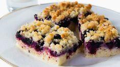 Blueberry crumble slice