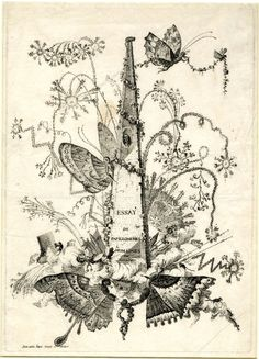 Title: a high pyramid decorated with garlands of flowers by butterflies, with fireworks exploding around it. c.1756/60 Etching