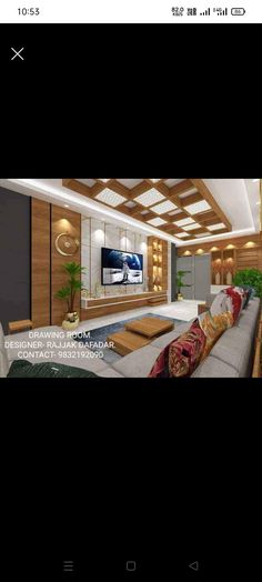 Tv Wall Decor, Tv Unit, Room Ideas, Mansions, Living Room, House Styles, Home Decor, Decoration Home, Manor Houses