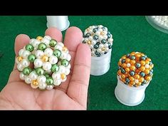 Beaded Boxes, Beaded Purses, Beaded Crafts, Beaded Ornaments, Beard Jewelry, Crochet Flower Tutorial, Diy Crafts Hacks, Embroidery Jewelry, Beaded Rings