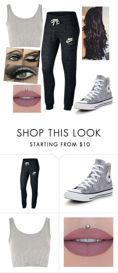 """untitled #13"" by scottm20 on Polyvore featuring NIKE, Converse and Topshop"