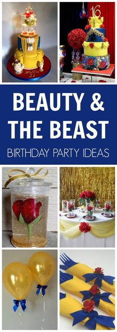 Beauty and the Beast Party Ideas - Pretty My Party - Party Ideas : Be our guest and be prepared to be enchanted with these fabulous Beauty and the Beast Party Ideas that any little princess would love! Beauty And Beast Birthday, Beauty And The Beast Theme, Beauty And The Best, Beauty Beast, Diy Beauty And The Beast Decorations, Beauty And The Beast Cake Birthdays, Disney Princess Party, Princess Birthday, Party Stuff