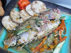 Chef Noel Cunningham Steamed Fish with Okra