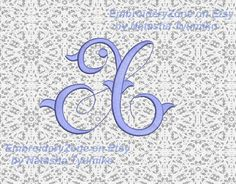 Monogram Letter X. Vintage style font  X . от EmbroideryZone