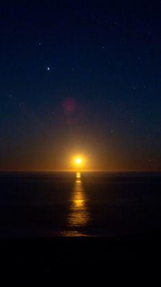 Sunset, dawn, dark, starry night, 720x1280 wallpaper