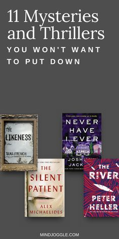 If you're on the hunt for the best mystery books to read next, look no further than this book list from Mind Joggle. Add these thrillers to your reading list and get ready for stories to keep you guessing. #books #reading #mysteries #thrillers Up Book, Book Club Books, Love Book, Book Lists, Night Book, Best Mystery Books, Best Mysteries, Good Thriller Books, Thriller Novels