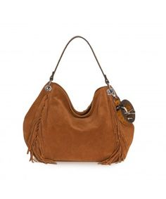 Sally the hobo. Wonderful suede, soft and smooth in a cognac color