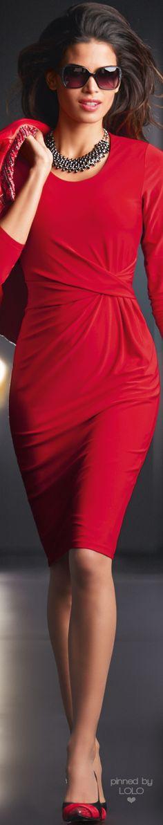 Madeleine Red Dress   LOLO❤ http://amzn.to/2rWjyr9