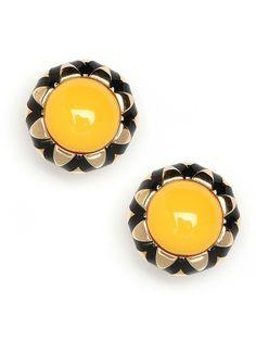 yellow + gold earings