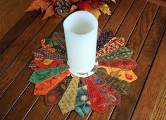 Your place to buy and sell all things handmade Dresden Quilt, Dresden Plate, Photo Candles, Quilted Table Toppers, Plate Design, Flower Applique, Thanksgiving Table, Fall Harvest, Fall Season