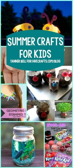 Summer Crafts for Kids from http://favecrafts.com
