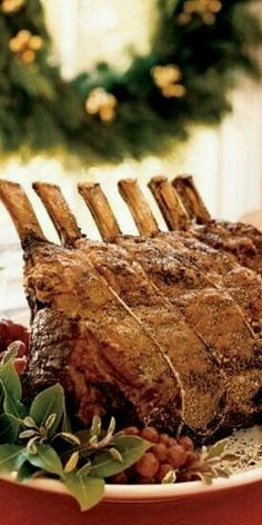 Salt-and-Pepper-Crusted Prime Rib with Sage Jus - cooking - - Prime Ribs - Southern Christmas, Merry Christmas To All, Christmas Mood, Christmas Makes, Elegant Christmas, Christmas Goodies, Prime Rib Sauce, Christmas Entertaining, Herb Butter