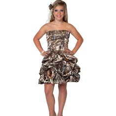 I have a feeling this will be a future purchase for me!!   Homecoming & Prom Dress :: Realtree Camo Strapless Dress - The RealStore at Realtree.com