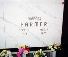 Frances Farmer - Find A Grave. Frances Movie, Frances Farmer, World Most Beautiful Woman, Beautiful Women, Famous Graves, Thing 1, Water Features In The Garden, Paramount Pictures, Grave Memorials