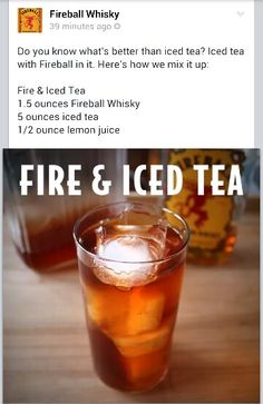 Fireball Whisky Iced Tea!