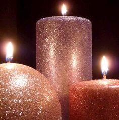 DIY Shimmer & Glitter Candles