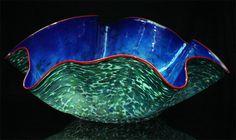 Giant Ostrea Bowls Gallery of Robert Kaindl an Art Glass Artist