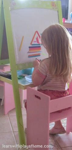 Learn with Play at Home: Sticky Easel: Coloured Craft Sticks and Straws