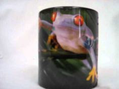 """Red eyed tree frog that magically appears on a color changing coffee mug! The mug starts out as a dark color, add a warm beverage into it and the image of the tree frog  appears on the mug! Available at Amazon.com, see this and others for sale by going to amazon.com put """"teranew"""" in the search box and click on the """"go"""" button to view several oth..."""