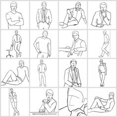 Posing Guide for taking Great Photos of Men with 21 Sample Poses.