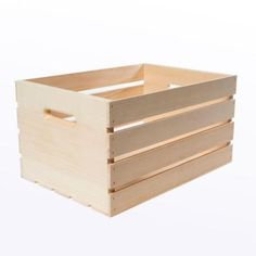 Houseworks Crates and Pallet 18 in. x 12.5 in. x 9.5 in. Large Wood Crate-94565 - The Home Depot