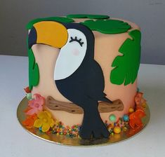28th Birthday, Golden Birthday, Birthday Parties, Tropical Party, Tropical Paradise, Animal Birthday Cakes, Tartelette, Flamingo Art, Jungle Party