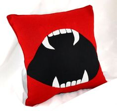 Vampire Fang  Pillow