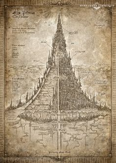 Necromunda is a world of prodigious industrial output, and no hive is as productive as Hive Primus. In this instalment . Warhammer 40000, 40k Terrain, Dungeon Maps, Fantasy City, Warhammer Fantasy, Science Fiction, Vintage World Maps, Sci Fi, Dark
