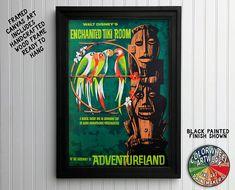 Enchanted Tiki Room Adventureland Disneyland Ride Poster Framed Art, Framed Prints, Framed Canvas, Vintage Disney Posters, Disney Canvas Art, Disneyland Rides, Tiki Room, Canvas Art Prints