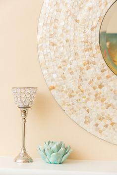 Capiz shell mirror