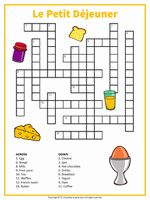 A printable crossword featuring terms from a French breakfast table. Help your students and kids build their vocabulary with our French puzzle collection. French Language Lessons, French Language Learning, French Lessons, Spanish Lessons, Spanish Class, Spanish Language, Study French, Core French, Learn French