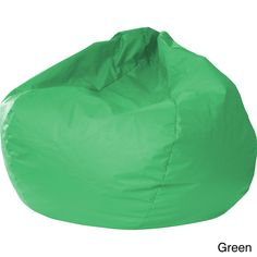 Gold Medal Small Leather-look Vinyl Bean Bag (Green)